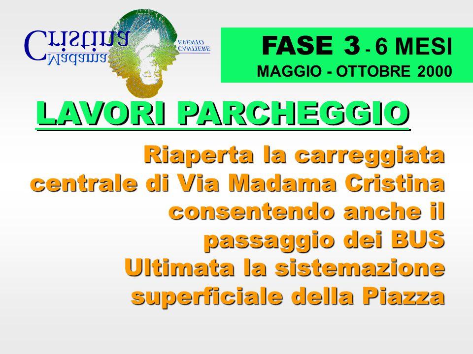 LAVORI PARCHEGGIO FASE 3 - 6 MESI