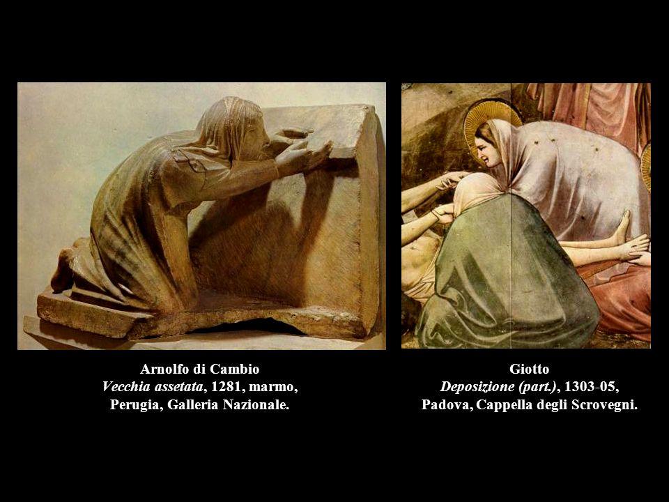 Giotto Deposizione (part.), 1303-05, Padova, Cappella degli Scrovegni.