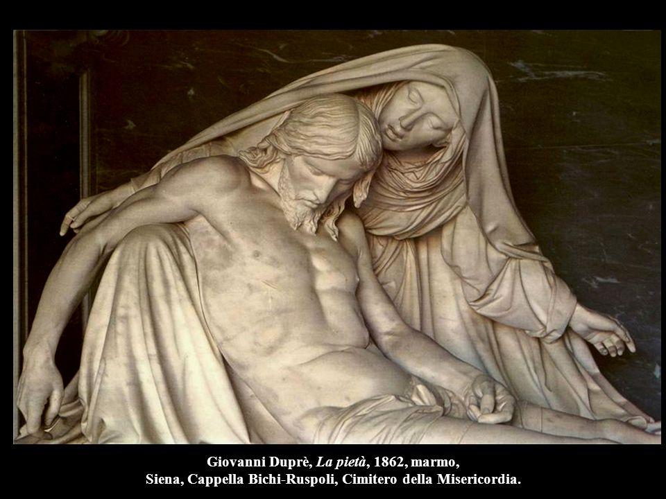Giovanni Duprè, La pietà, 1862, marmo, Siena, Cappella Bichi-Ruspoli, Cimitero della Misericordia.