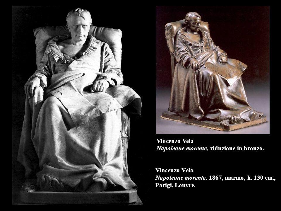 Vincenzo Vela Napoleone morente, riduzione in bronzo.