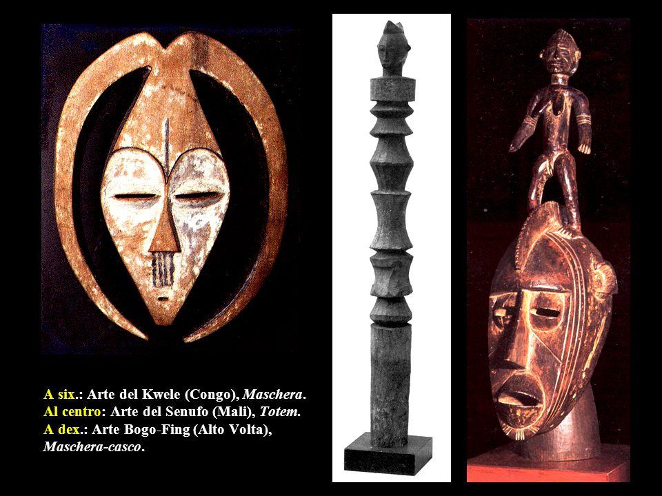 A six. : Arte del Kwele (Congo), Maschera