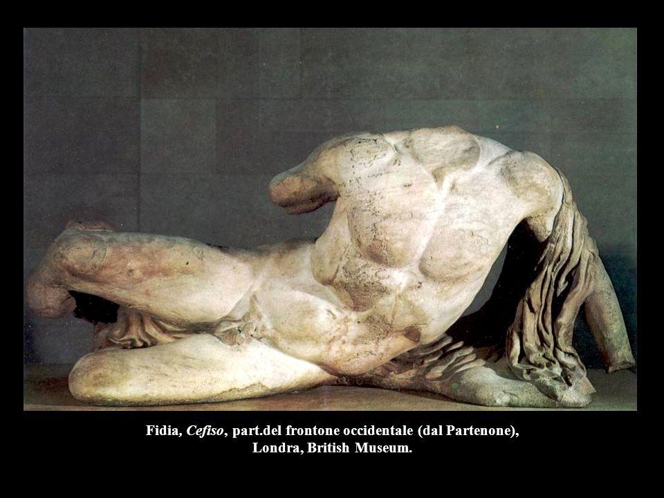 Fidia, Cefiso, part.del frontone occidentale (dal Partenone), Londra, British Museum.