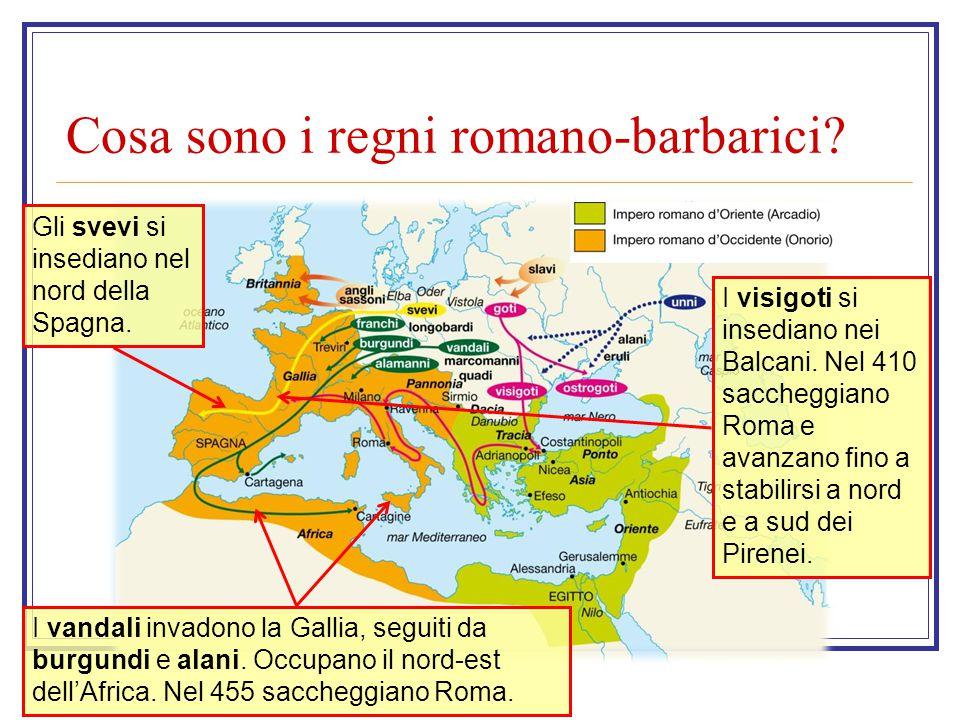 Cosa sono i regni romano-barbarici