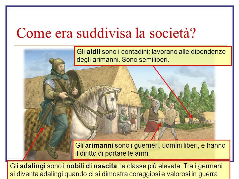 Come era suddivisa la società