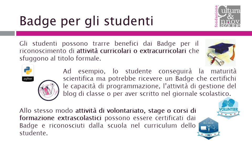 Badge per gli studenti
