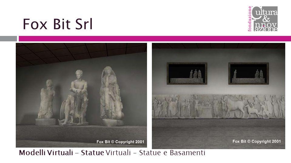 Fox Bit Srl Modelli Virtuali - Statue Virtuali – Statue e Basamenti