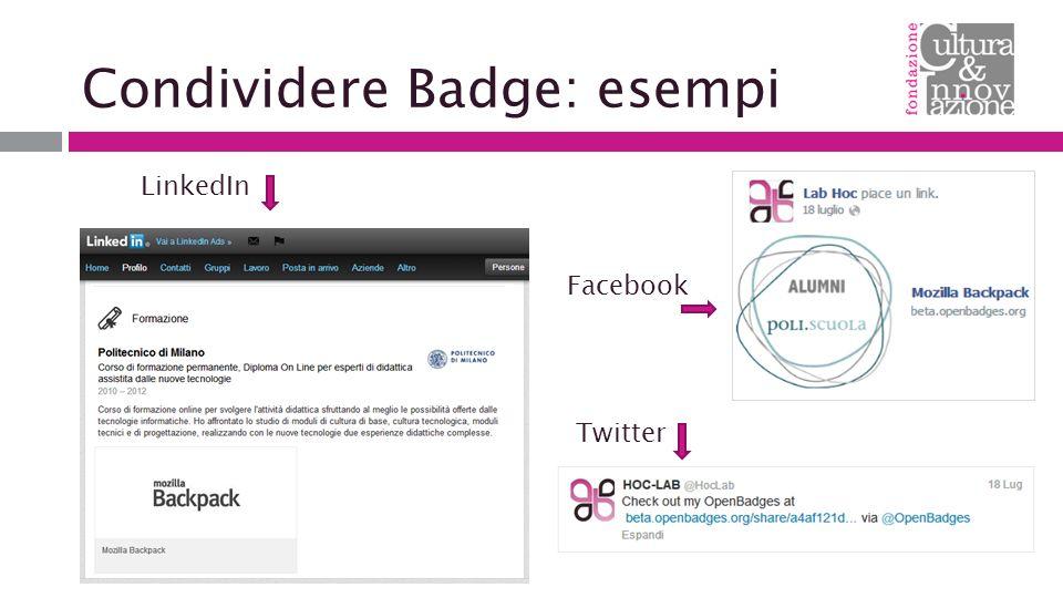 Condividere Badge: esempi