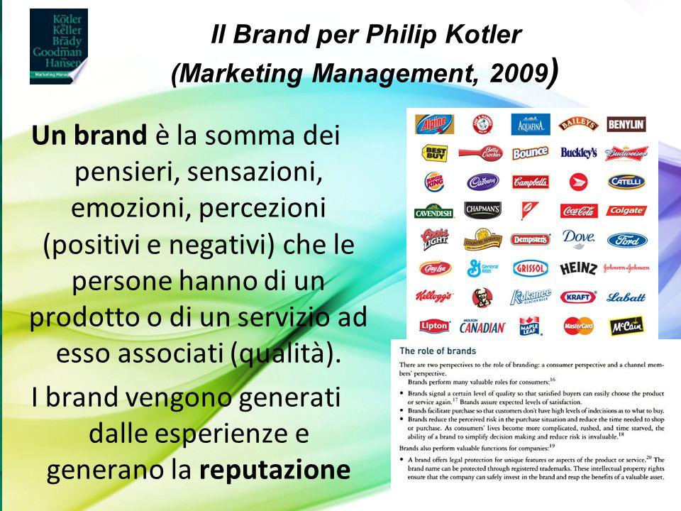 Il Brand per Philip Kotler (Marketing Management, 2009)