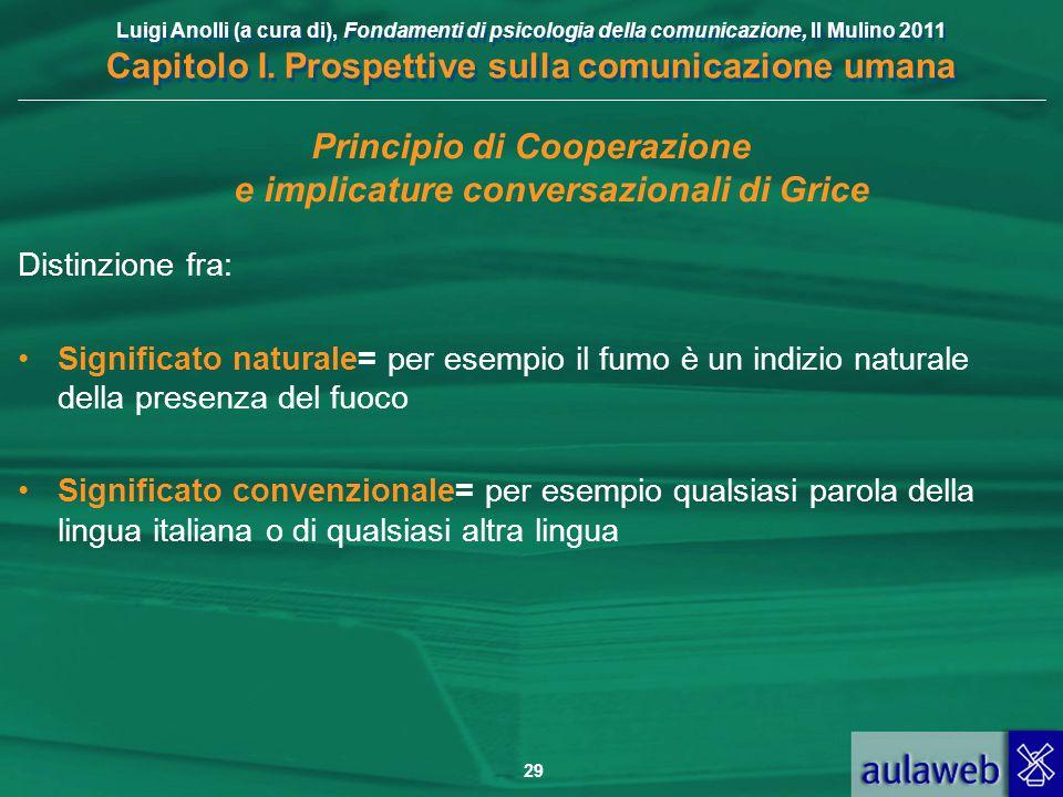 Principio di Cooperazione e implicature conversazionali di Grice