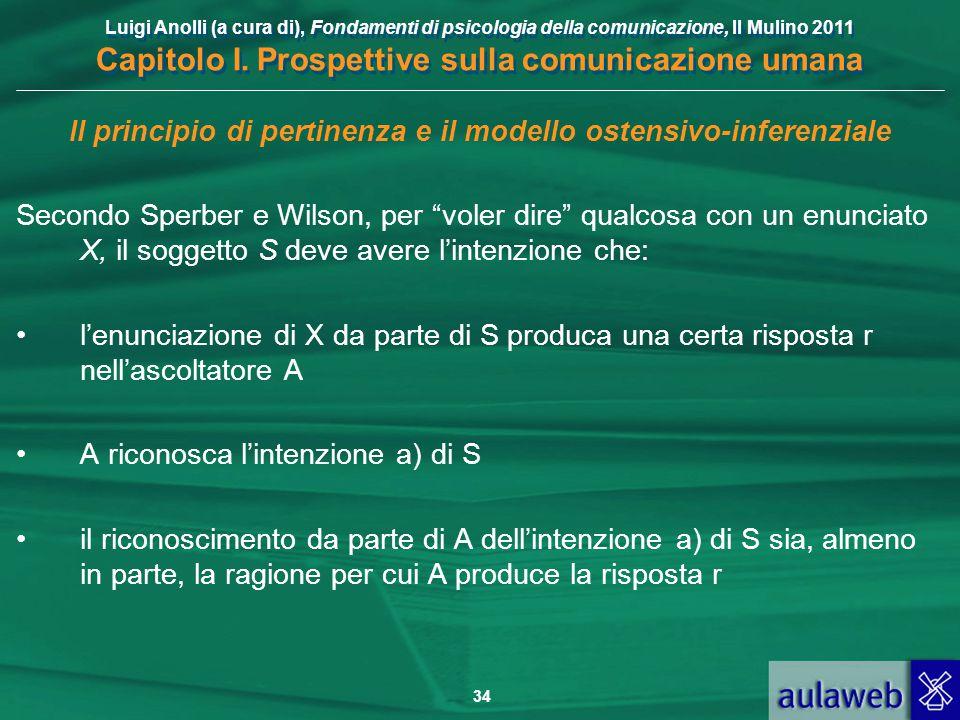 Il principio di pertinenza e il modello ostensivo-inferenziale