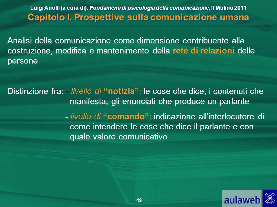 Analisi della comunicazione come dimensione contribuente alla costruzione, modifica e mantenimento della rete di relazioni delle persone