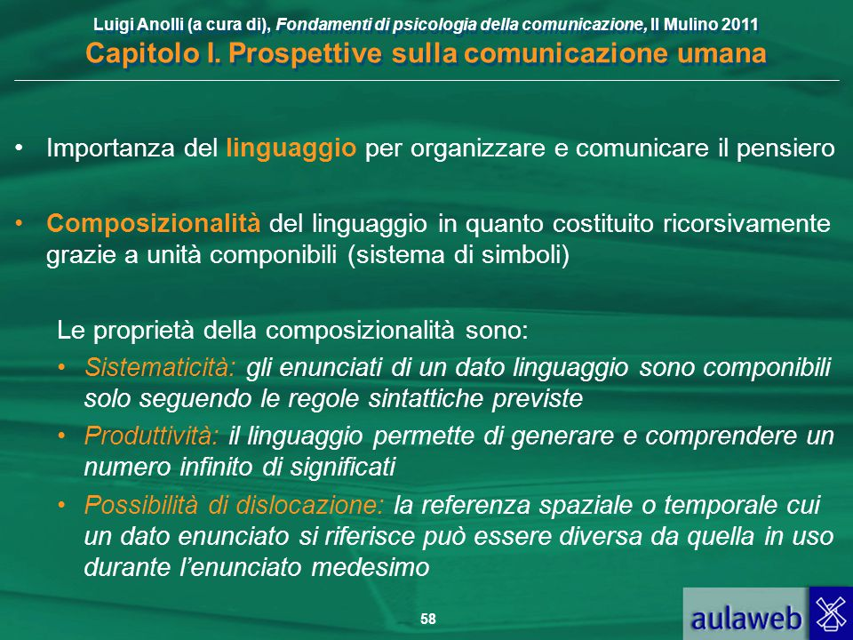 Importanza del linguaggio per organizzare e comunicare il pensiero