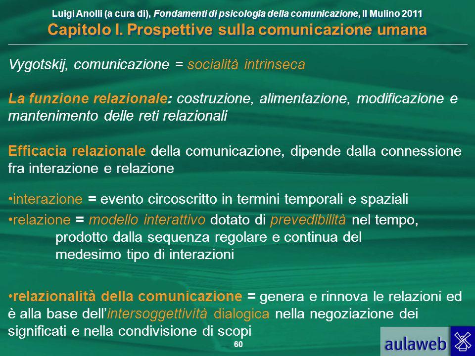 Vygotskij, comunicazione = socialità intrinseca