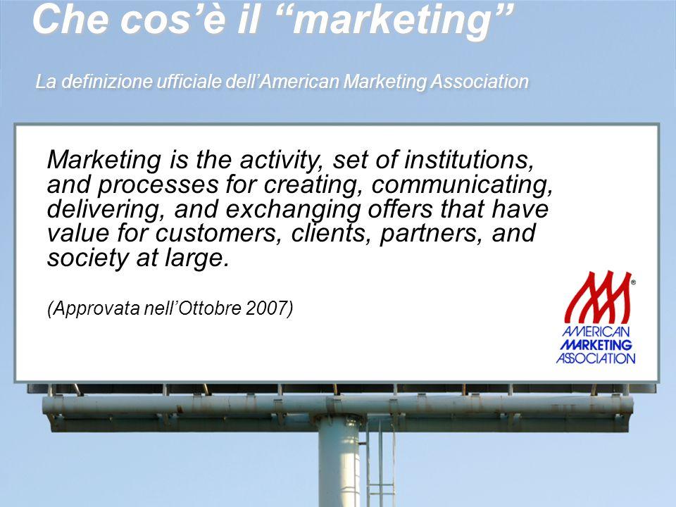 Che cos'è il marketing