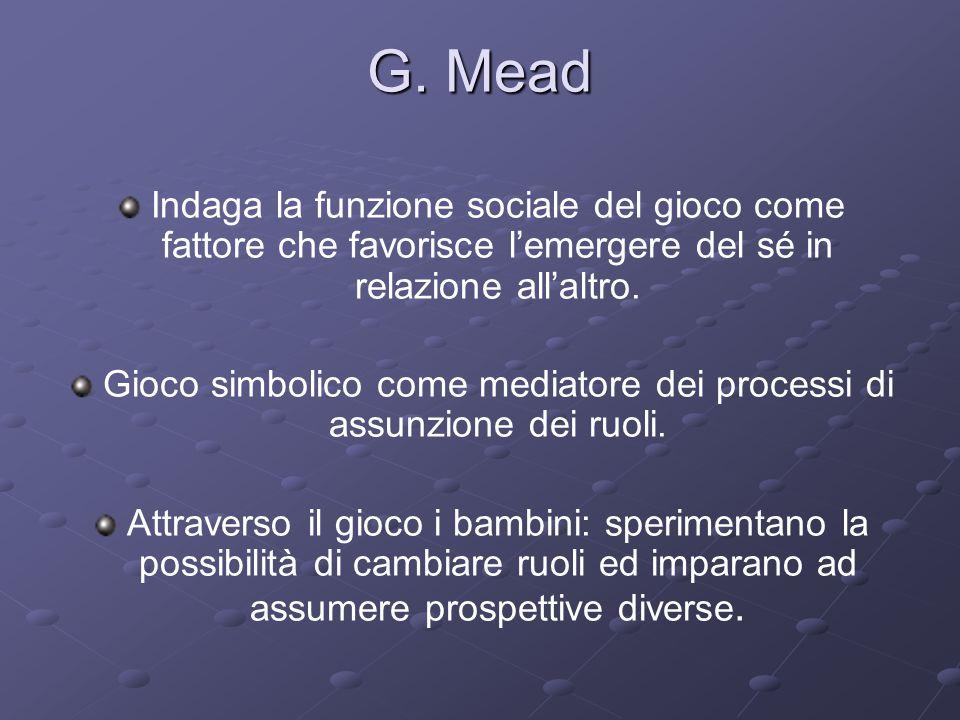 Gioco simbolico come mediatore dei processi di assunzione dei ruoli.