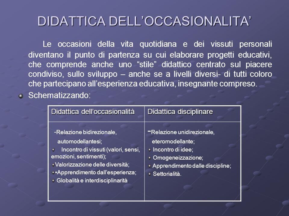 DIDATTICA DELL'OCCASIONALITA'