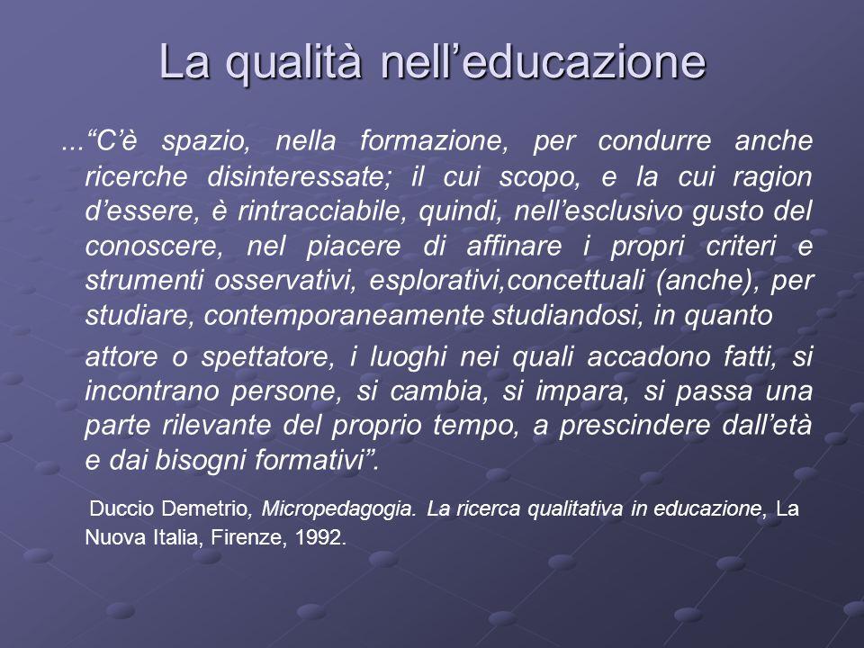 La qualità nell'educazione