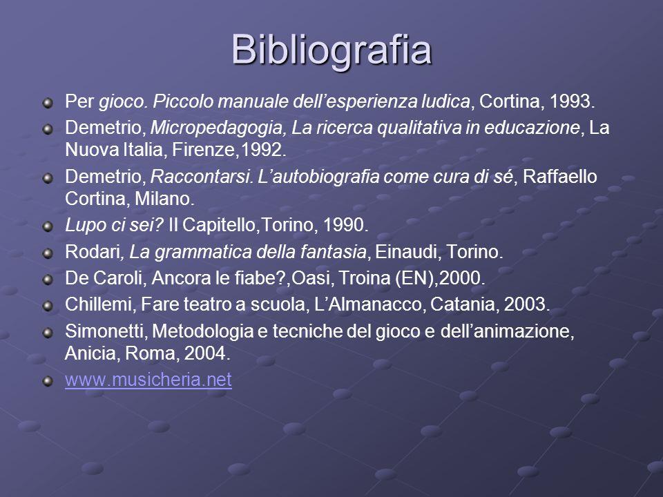 Bibliografia Per gioco. Piccolo manuale dell'esperienza ludica, Cortina, 1993.