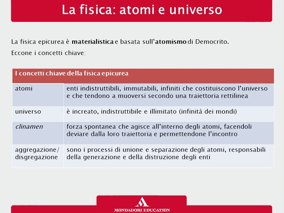 La fisica: atomi e universo