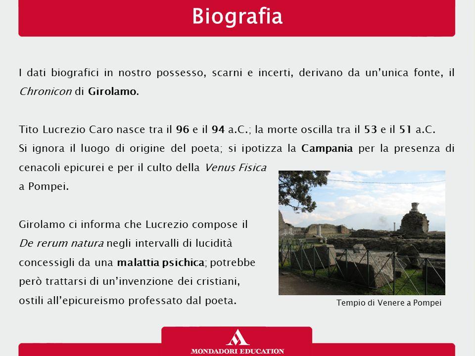 Biografia 13/01/13. I dati biografici in nostro possesso, scarni e incerti, derivano da un'unica fonte, il Chronicon di Girolamo.