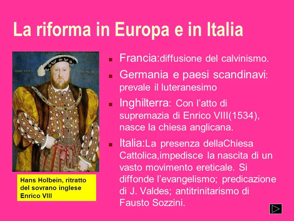 La riforma in Europa e in Italia