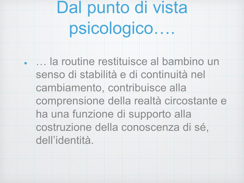 Dal punto di vista psicologico….