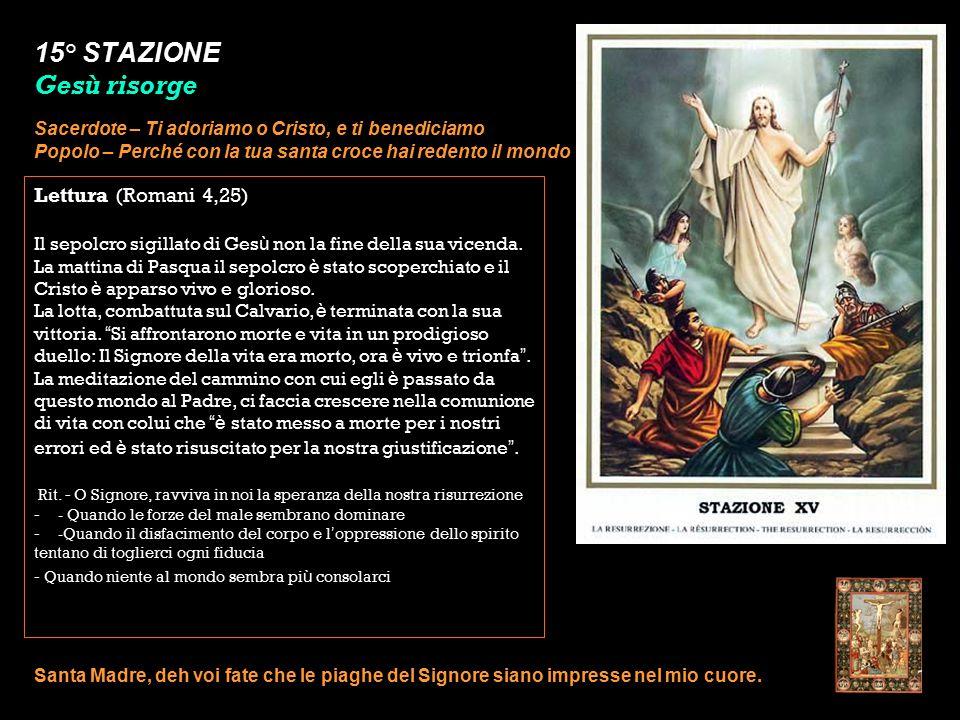 15° STAZIONE Gesù risorge
