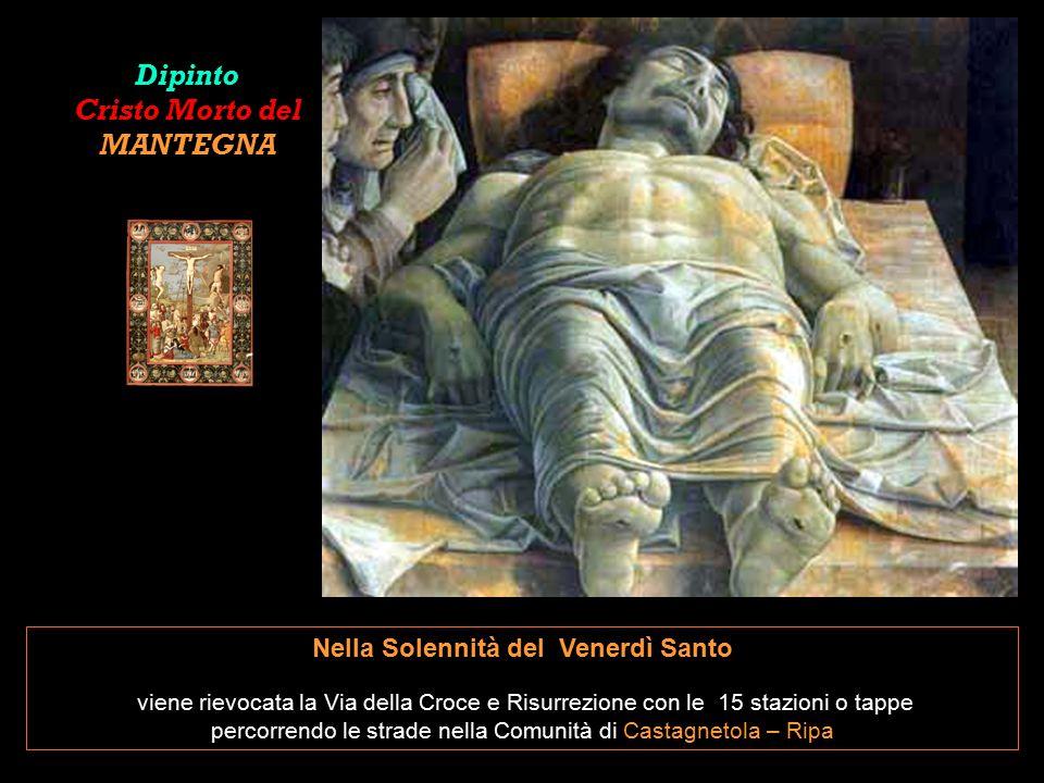 Dipinto Cristo Morto del MANTEGNA