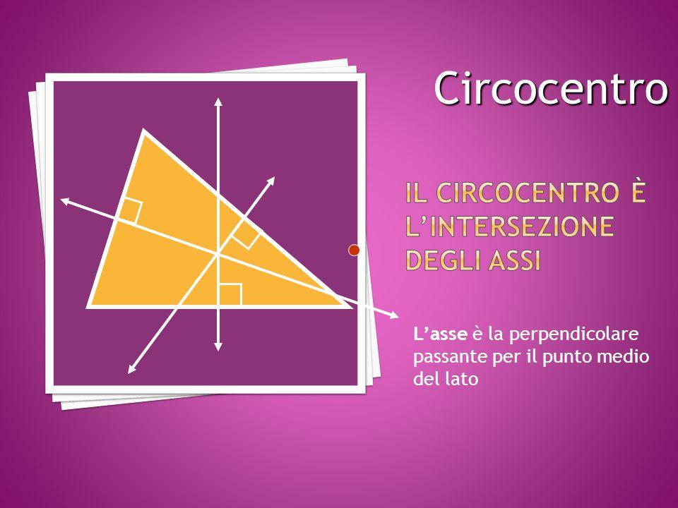 Il circocentro è l'intersezione degli assi
