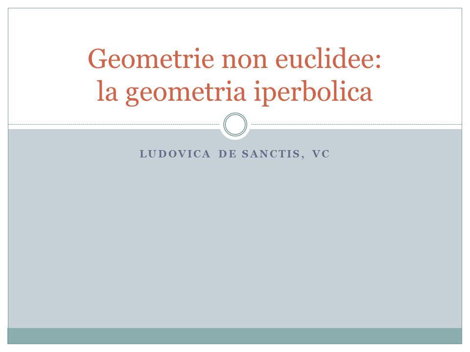 Geometrie non euclidee: la geometria iperbolica