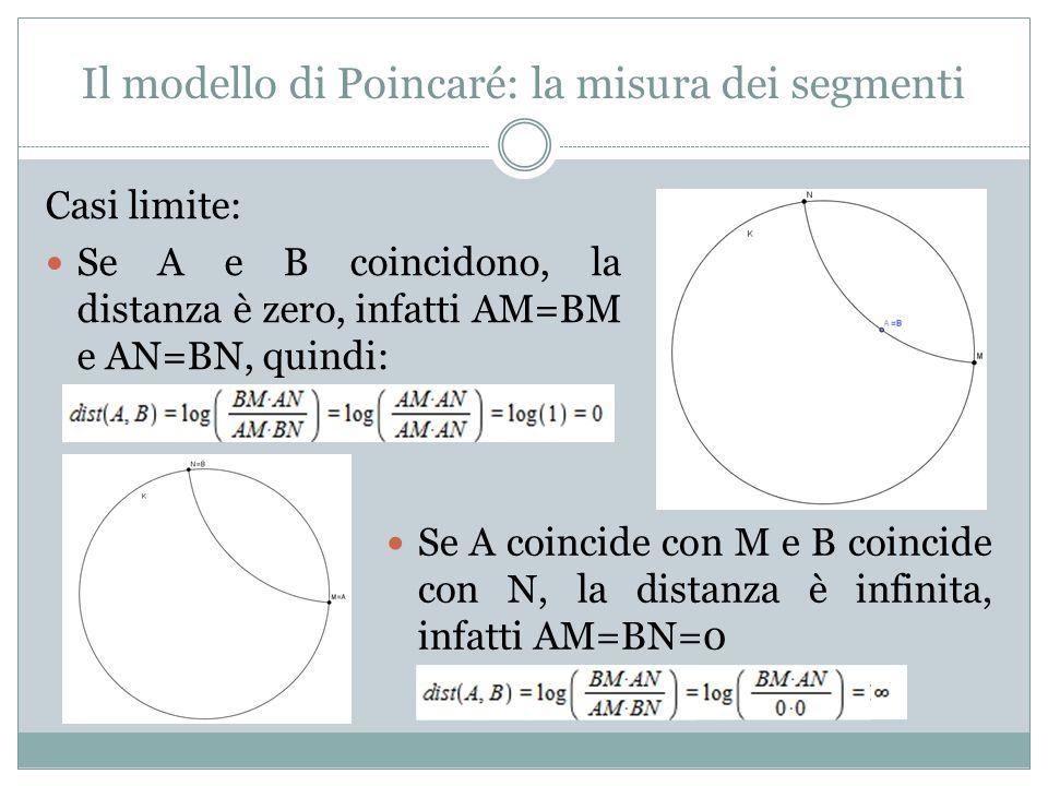 Il modello di Poincaré: la misura dei segmenti