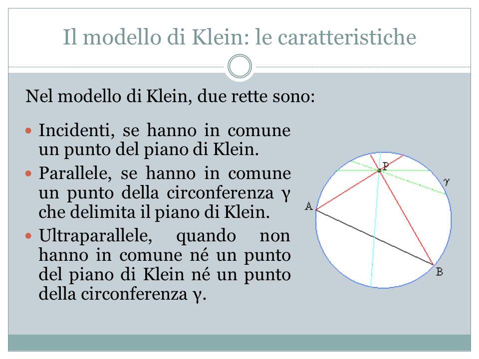 Il modello di Klein: le caratteristiche