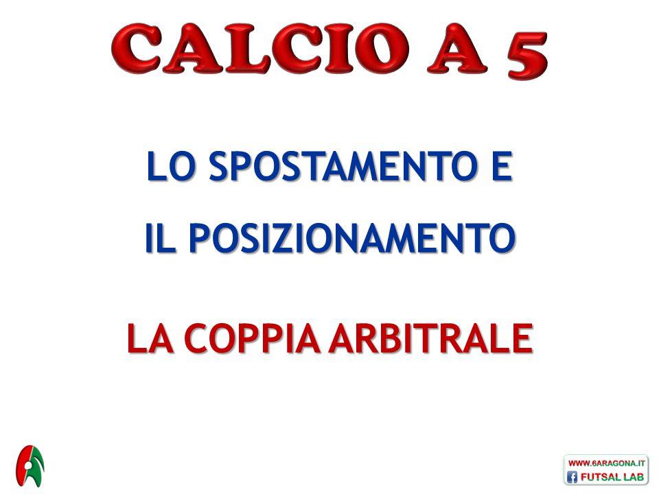 CALCIO A 5 LO SPOSTAMENTO E IL POSIZIONAMENTO LA COPPIA ARBITRALE