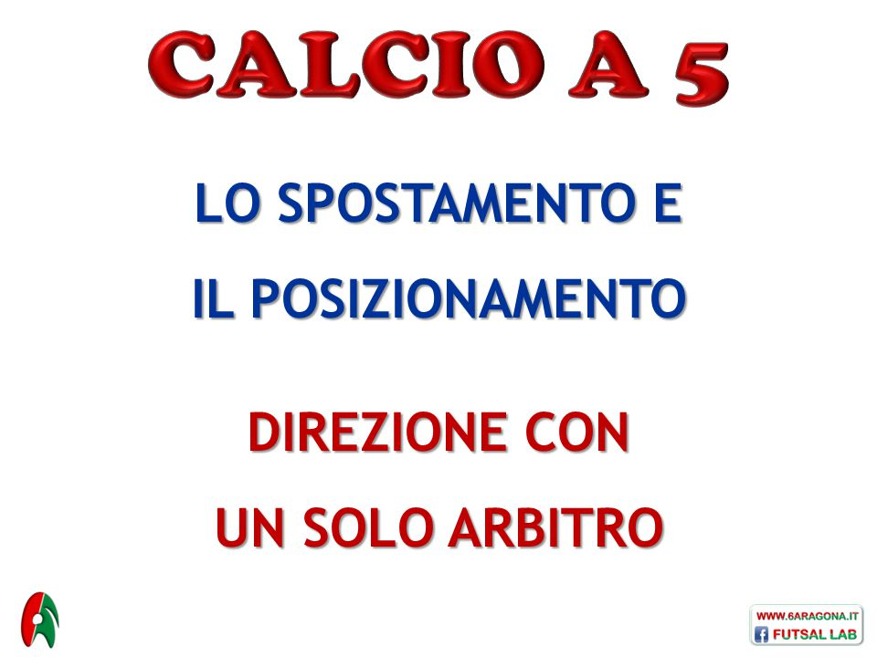CALCIO A 5 LO SPOSTAMENTO E IL POSIZIONAMENTO DIREZIONE CON