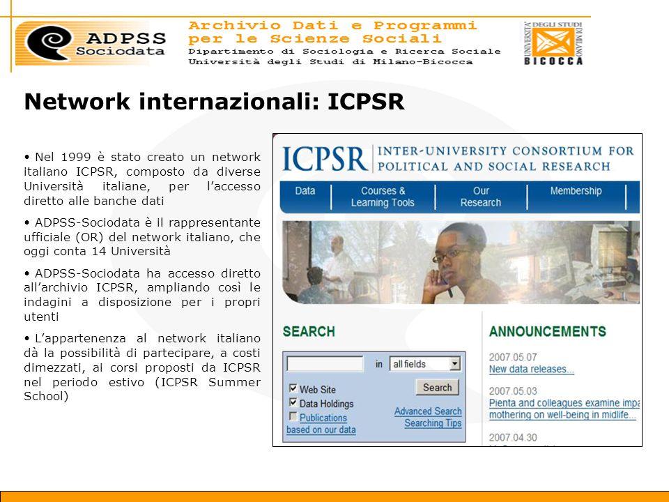 Network internazionali: ICPSR