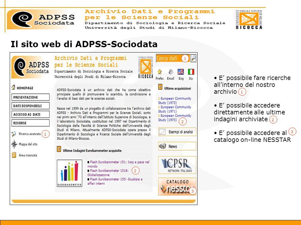 Il sito web di ADPSS-Sociodata