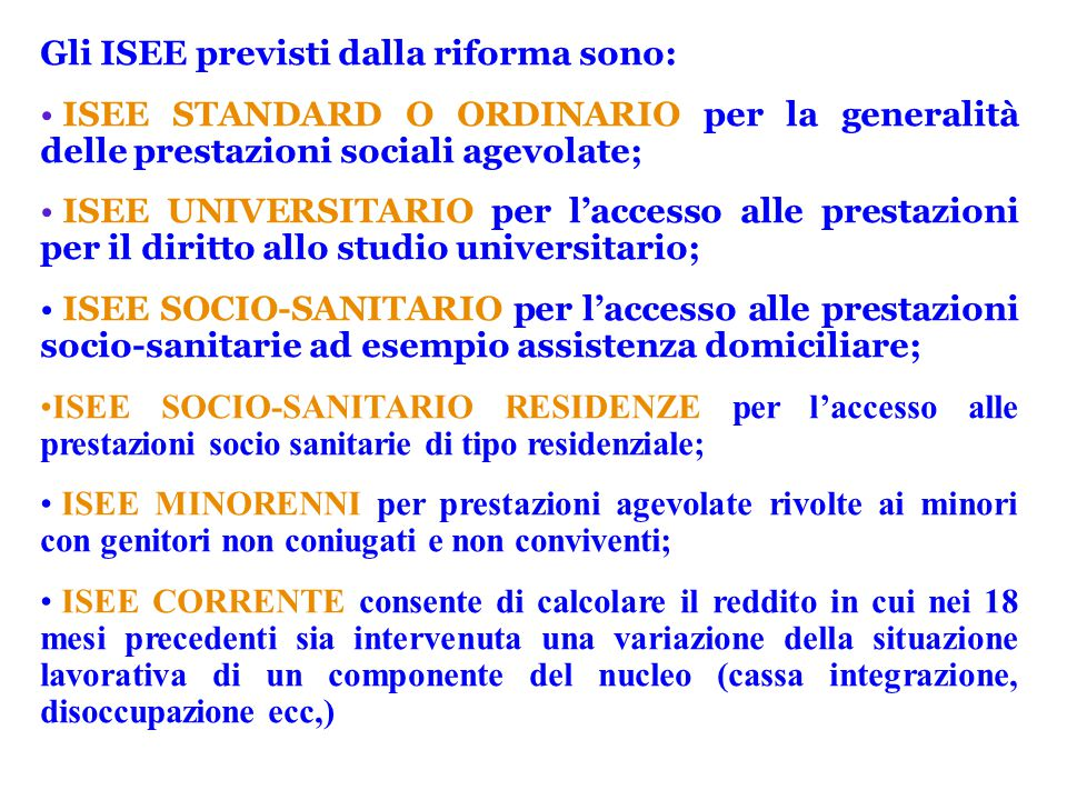 Piccola guida uil uilp sul nuovo isee ppt scaricare for Isee ordinario