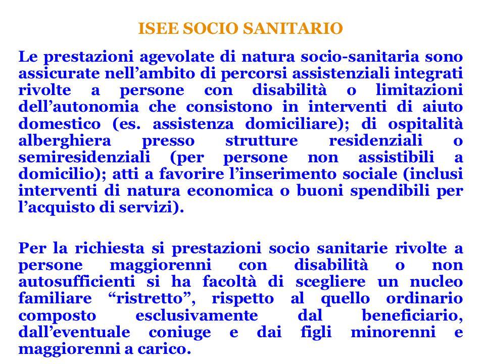 ISEE SOCIO SANITARIO