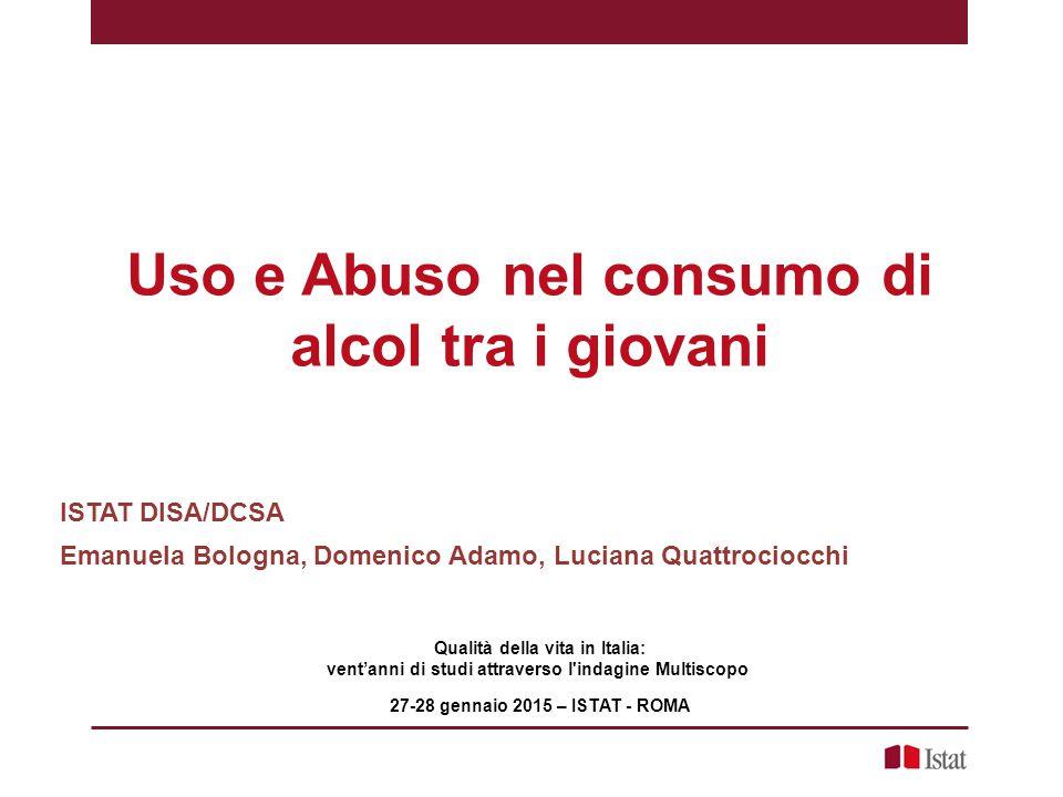 Uso e Abuso nel consumo di alcol tra i giovani