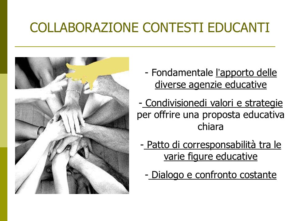 COLLABORAZIONE CONTESTI EDUCANTI
