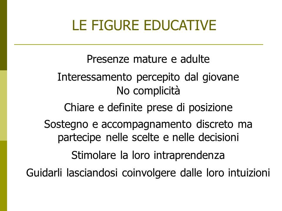 LE FIGURE EDUCATIVE Presenze mature e adulte