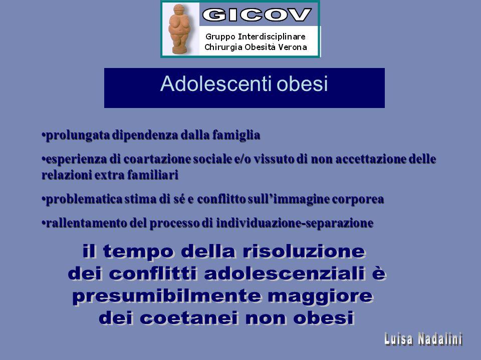 Adolescenti obesi prolungata dipendenza dalla famiglia