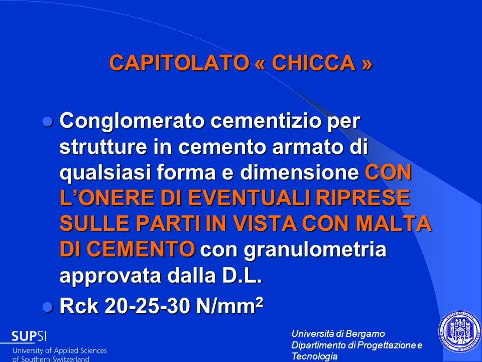 CAPITOLATO « CHICCA »