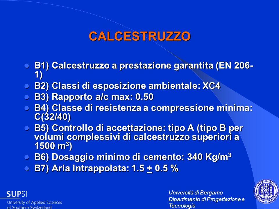 CALCESTRUZZO B1) Calcestruzzo a prestazione garantita (EN 206-1)