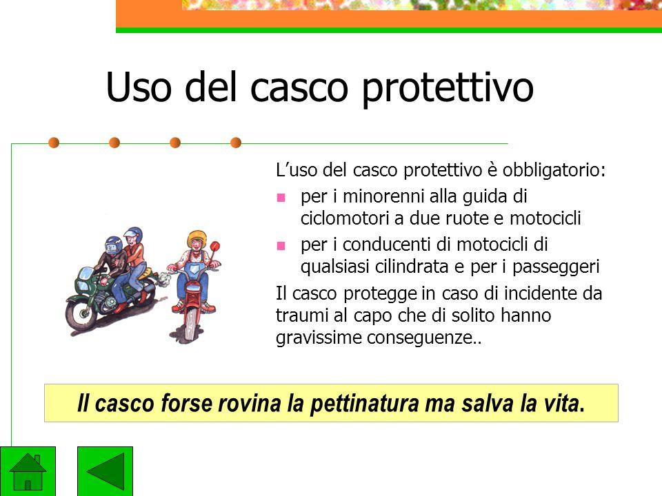 Uso del casco protettivo