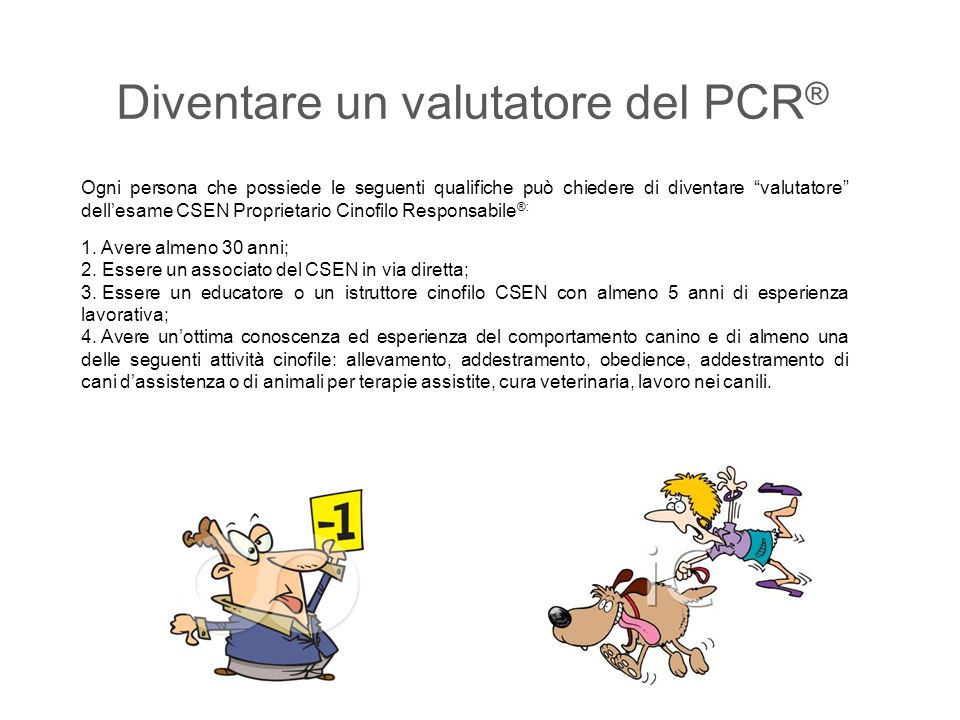 Diventare un valutatore del PCR®