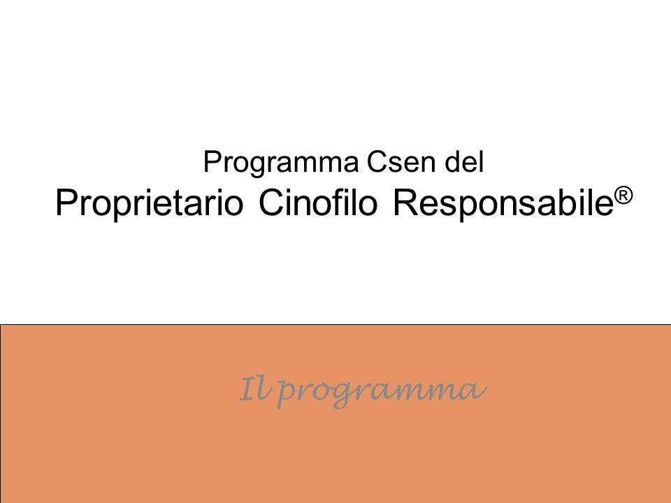 Programma Csen del Proprietario Cinofilo Responsabile®