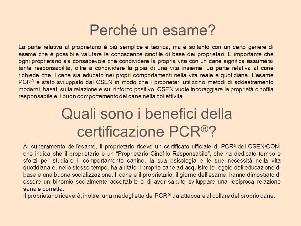 Quali sono i benefici della certificazione PCR®