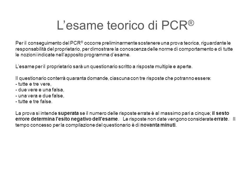 L'esame teorico di PCR®