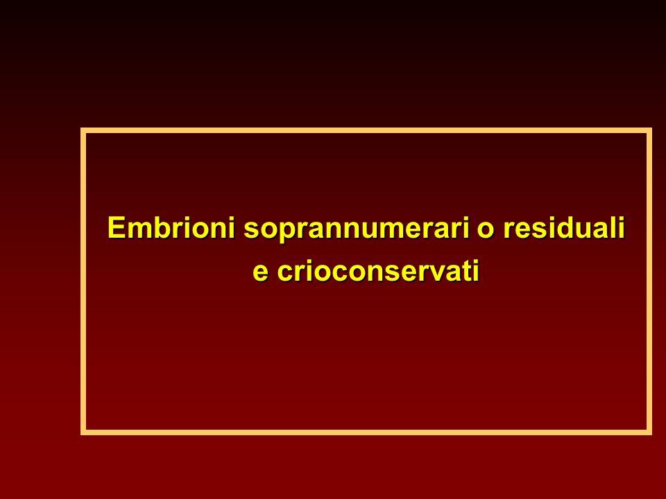 Embrioni soprannumerari o residuali